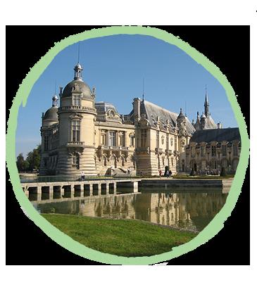 Château de Chantilly proche du camping Pré des moines