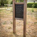 Panneau indicatif du camping Pré des moines