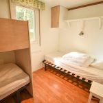 Chambre d'un mobil home du camping Pré des moines